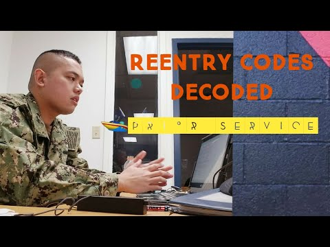 NAVY RESERVE(Prior Service)-RE CODES