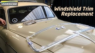 Windshield Trim Removal & Replacement - Volvo Amazon Combi