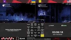 Bingothon 2019: Hollow Knight Randomizer - Lockout Bingo (Invasion) by ShaddyBadass vs. yote_sr