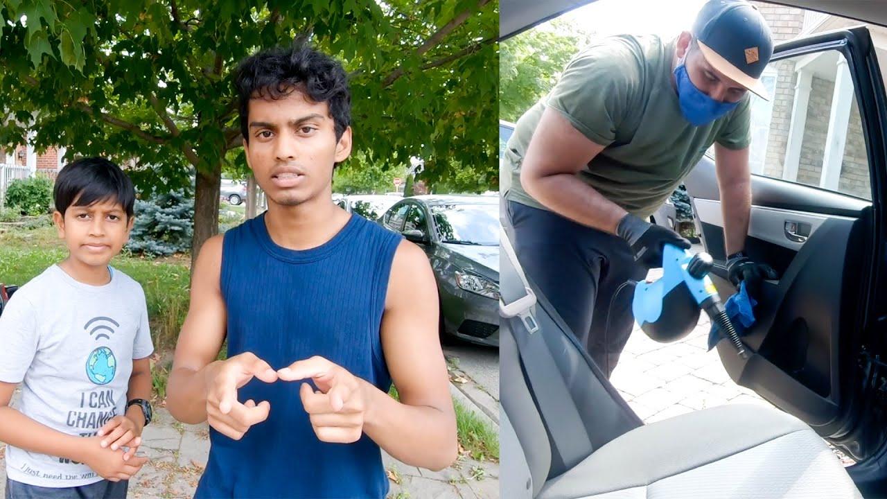 கனடாவில் பள்ளி திட்டம் | Interior Car Wash VLOG in Tamil | VelBros Tamil