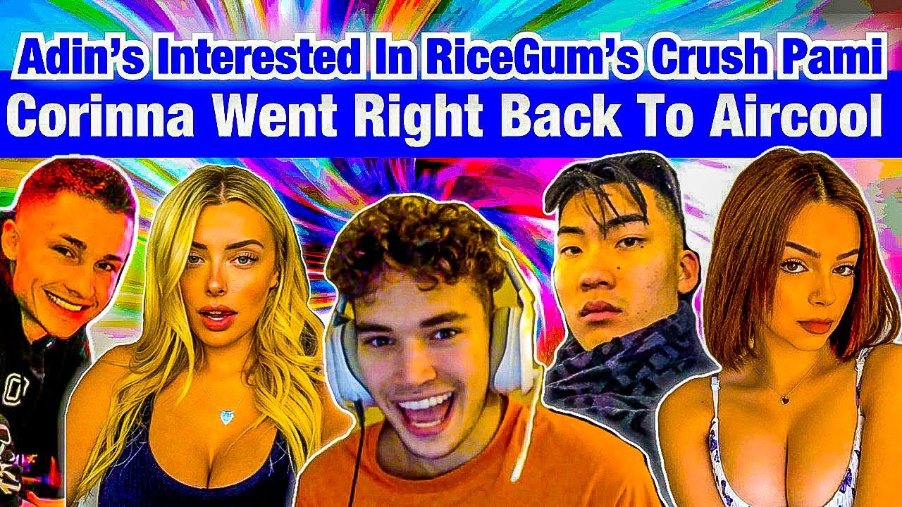 ADIN ROSS STEALS PAMI BABY FROM RICEGUM + TH0T CORINNA TRIED KISSING AIRCOOL 24 HRS AFTER ADIN HIT🤮