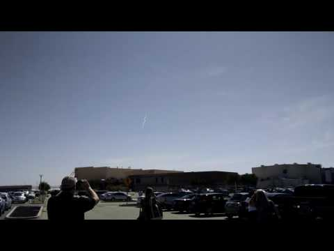 Sonic boom at NASA Armstrong Research Center, Edwards AFB, California