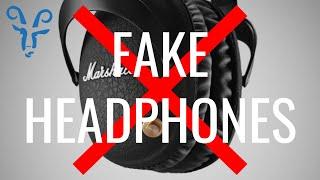 fAKE Marshall Monitor Bluetooth Headphones: how to spot them