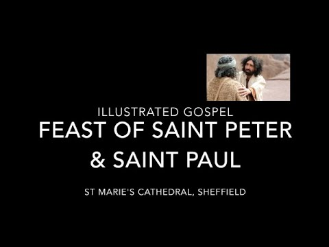 Illustrated Gospel for the Feast of St Peter & St Paul / 28-29th June