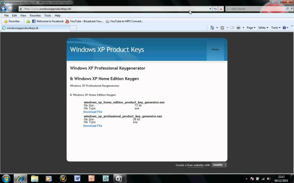 Windows XP Professional Product Key (32&64 Bit)