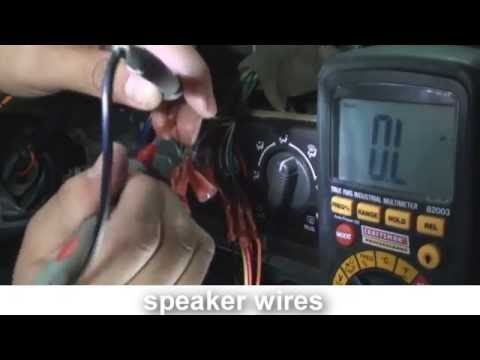 how to rewire a cut harness car stereo
