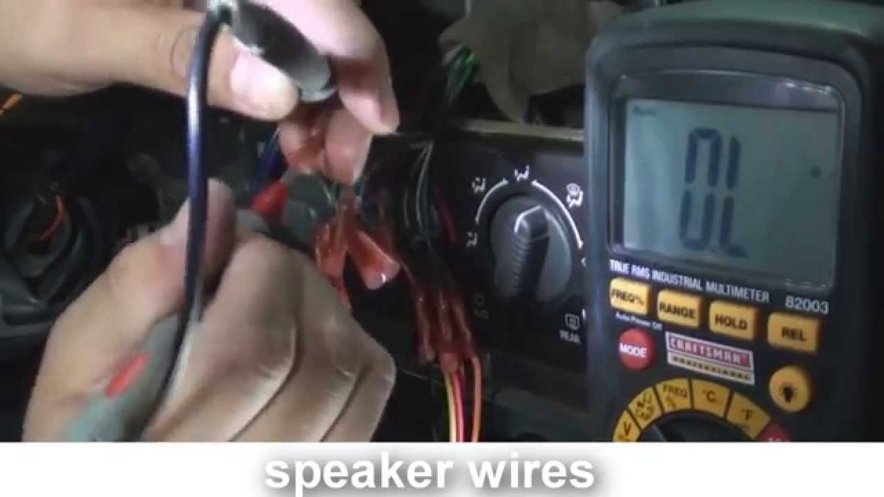 how to rewire a cut harness car stereo  YouTube