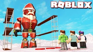 Roblox Adventures - BUILD YOUR OWN SANTA ROBOT IN ROBLOX! (Santa Mech Tycoon)