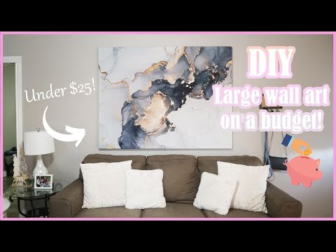 diy-canvas-wall-art-on-a-budget!-|-how-to-large-wall-art