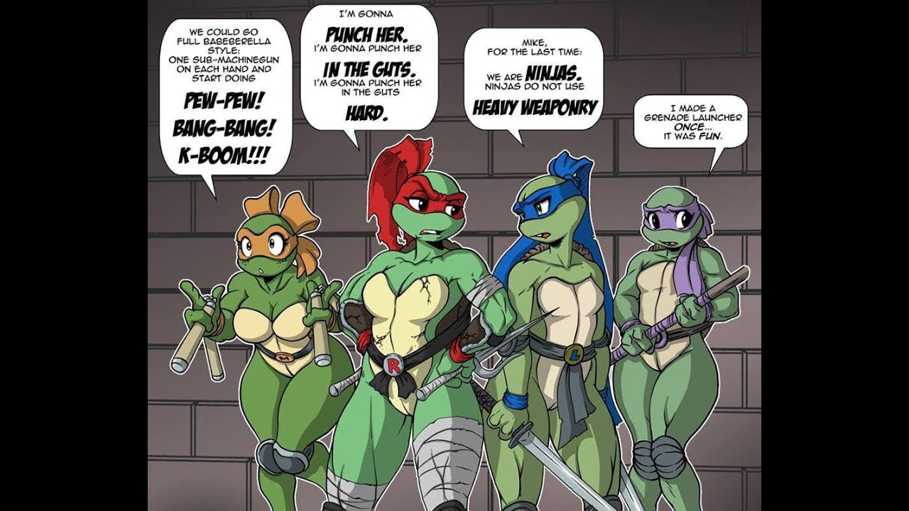 Teenage mutant ninja turtles as nude girls where