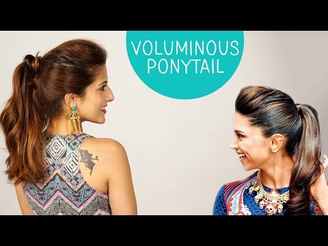 Volumized Ponytail Hairstyle for Medium to Long Hair  | Deepika Padukone | Celebrity Hairstyles