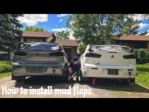 How to install mud flaps on Mitsubishi Lancer