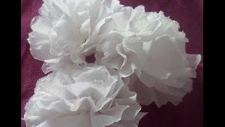 Flor de papel higiênico   Faça você mesmo