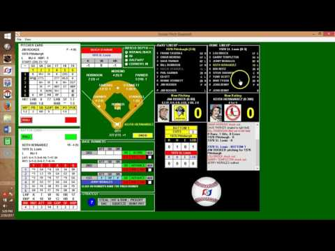 Inside Pitch Baseball IP PC Game 1978 Pittsburgh Pirates at St. Louis Cardinals