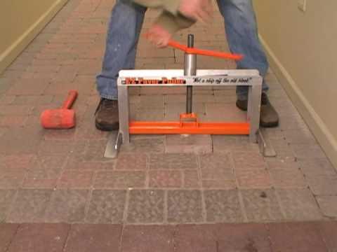 brick pavers paver tools ez paver puller - YouTube