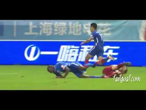 Most Horrible Injury in football history  Demba ba Breaks His Leg VS Shanghai SIPG