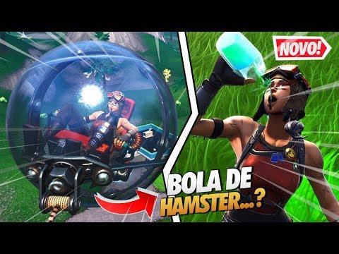 NOVO VEÍCULO BOLA DE HAMSTER E NOVAS ANIMAÇÕES - FORTNITE thumbnail