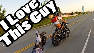 Harley riders are CRAZY!