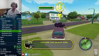 The Simpsons Hit & Run All Story Missions Speedrun in 1:32:40 [World Record]