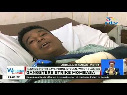 Man attacked by gang wielding machete & crude weapons in Mombasa