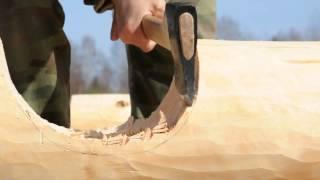 Работа реставрационным топором , изготовлен кузницей Топорсиб(Работа реставрационным топором , изготовлен кузницей Топорсиб., 2015-05-12T11:03:28.000Z)