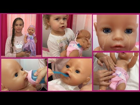 Baby Born VILA - Naša Nova Igračka, Lutka!!! Kako Plače, Piški, Jede - POGLEDAJTE!