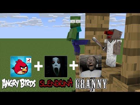 Monster School: ANGRY BIRDS + GRANNY CHALLENGE - MINECRAFT ANIMATION