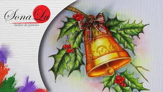 Sino de Natal em Tecido por Sonalupinturas