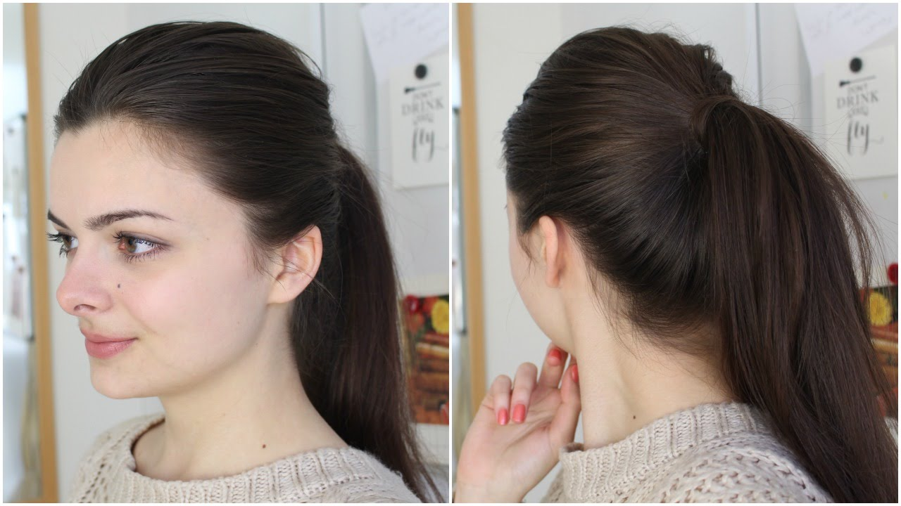 Get The Perfect Ponytail Two Ways Youtube