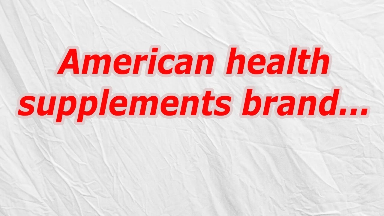 American health supplements brand (CodyCross Crossword Answer)