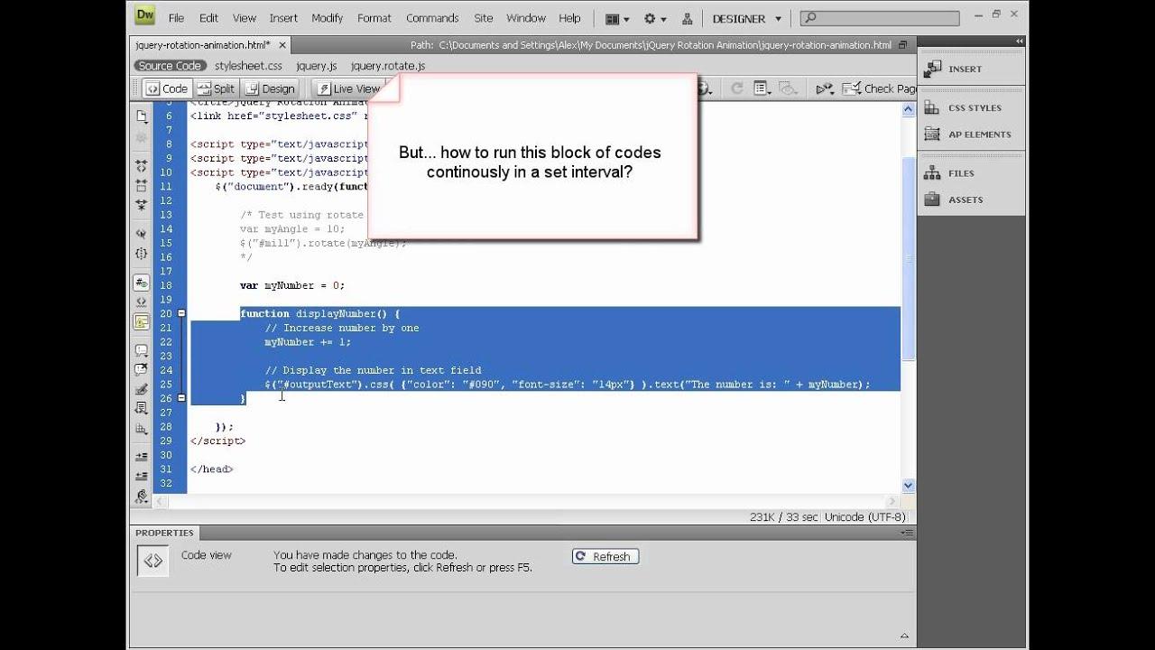 jQuery Rotation Animation (1)