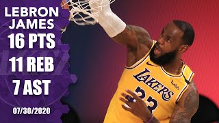 LeBron James comes up clutch, posts double-double in <b>Lakers</b> vs ...