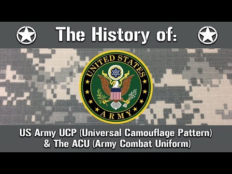 The History Of: US Army Universal Camouflage Pattern UCP & Army Combat Uniform ACU | Uniform History