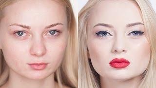 Hollywood make-up. Голливудский макияж. Красные губы. Урок профессионального визажа. (Урок №21)