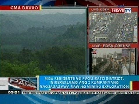 BP: 2 kumpanyang nagsasagawa raw ng mining exploration sa Davao City, inirereklamo