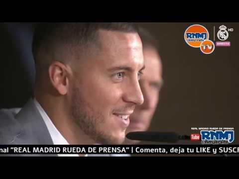 Rueda de prensa de Eden Hazard