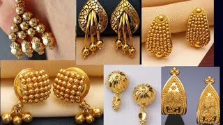 Gold #studs earring design with weight and price //gold #tops design