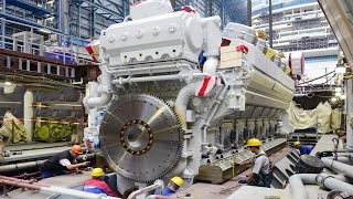 Building The Most Powerful Engine in the World And Engine Crankshaft Exchange Process