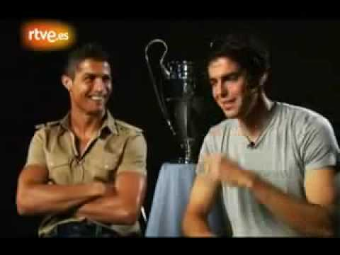 Cristiano Ronaldo CR9 y Kaká K8 en entrevista en exclusiva en TVE