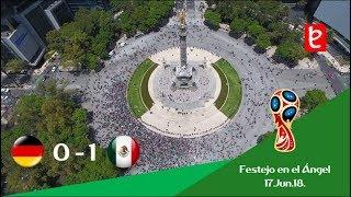Así festejaron en el Ángel, Mex. 1 - 0 Ale. Rusia 2018 | www.edemx.com