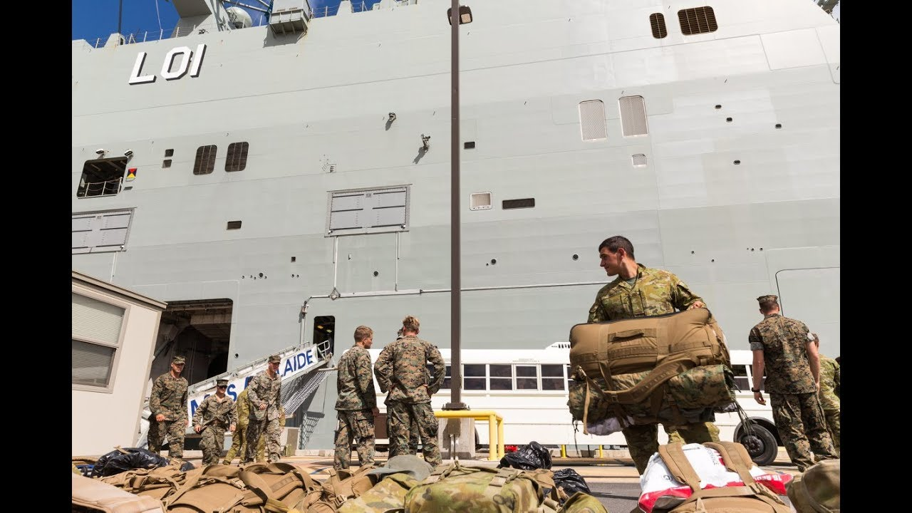 2RAR Embark HMAS Adelaide as part of the largest multinational force
