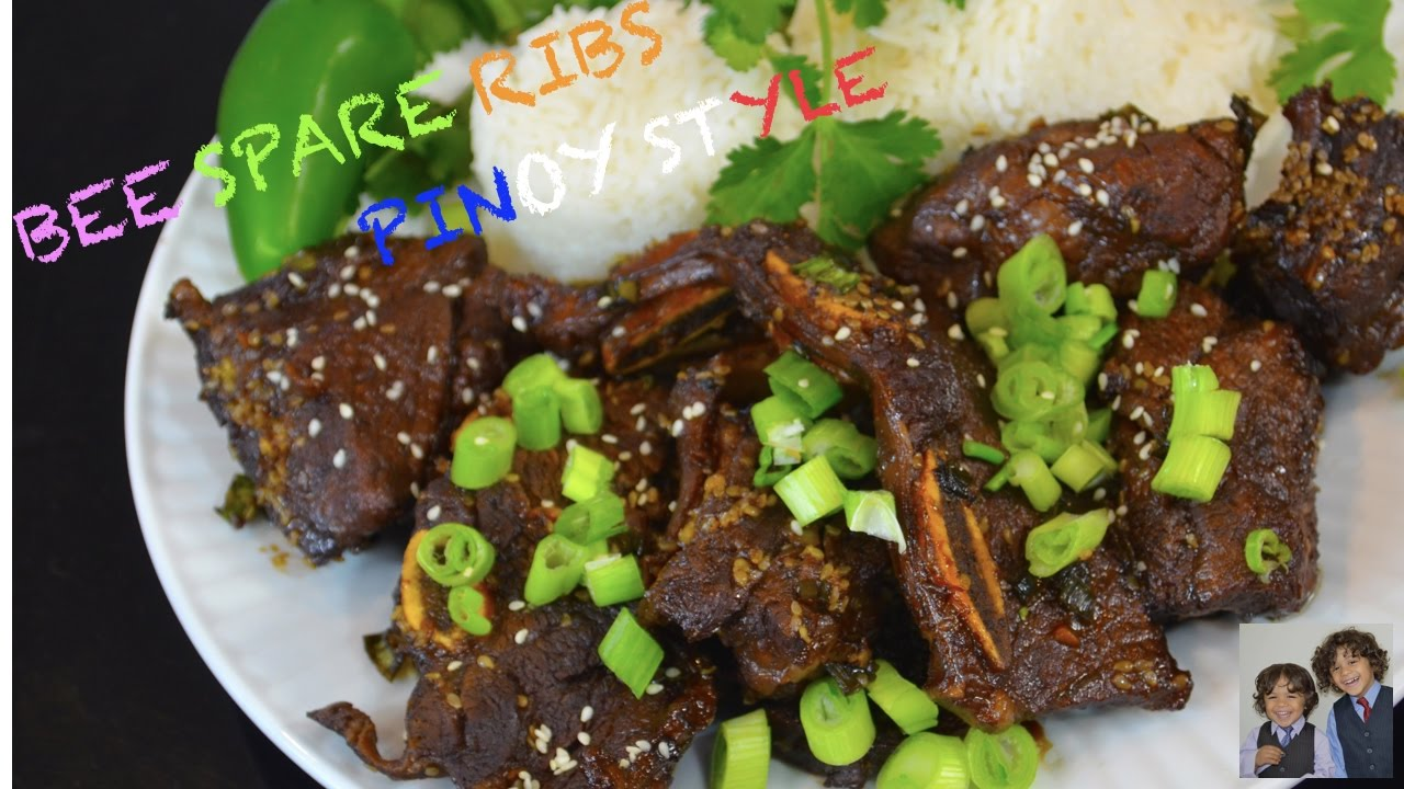 How To Make Beef Spare Ribs Pinoy Style Youtube
