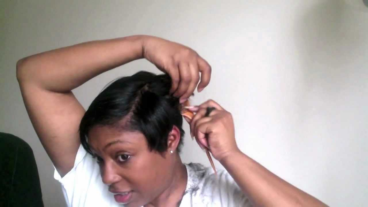 Short Hair Cutting Tutorial How I Cut My Short Black Hair Youtube