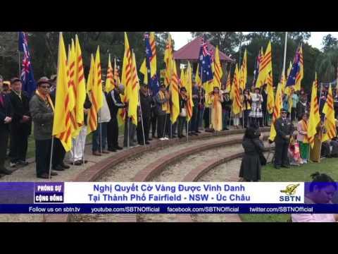 PHÓNG SỰ CỘNG ĐỒNG: Thành phố Fairfield - Úc Châu thông qua nghị quyết vinh danh Cờ Vàng