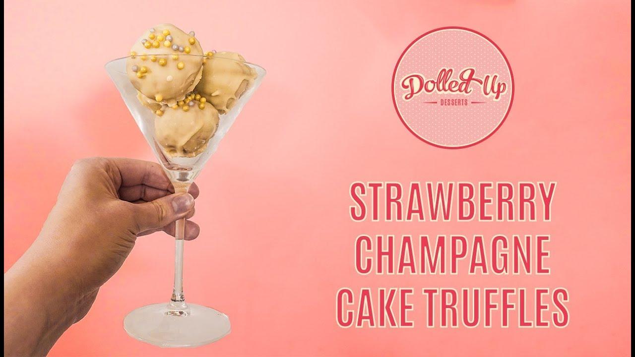 Strawberry Champagne Cake Truffle Recipe Vegan Gluten Free