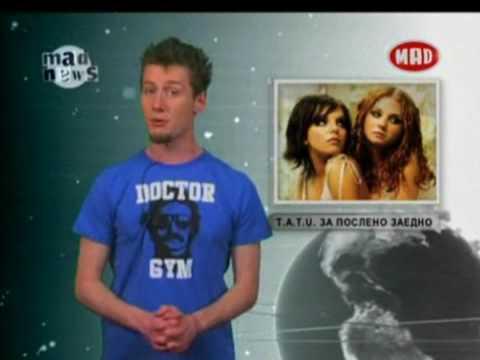t.A.T.u. - Mad News (Mad TV Bulgaria) 31.03.2009