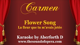 Carmen La Fleur Que Tu M 39 Avais Jetée Flower Song Backing Track