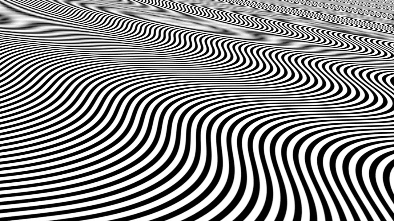 Pyschedelic Black & White Lines - YouTube