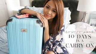 How To Pack: 10 Days in a Carry On | March in Italy | Charmaine Dulak