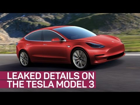 Tesla Model 3 details leak online